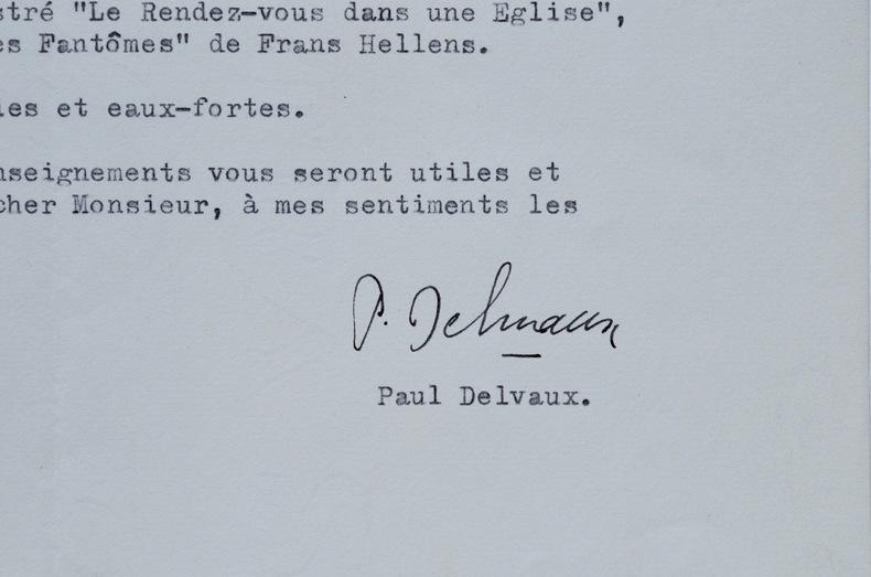 Paul Delvaux décline une proposition d'illustration.. Paul Delvaux (1897-1994) Peintre surréaliste belge.