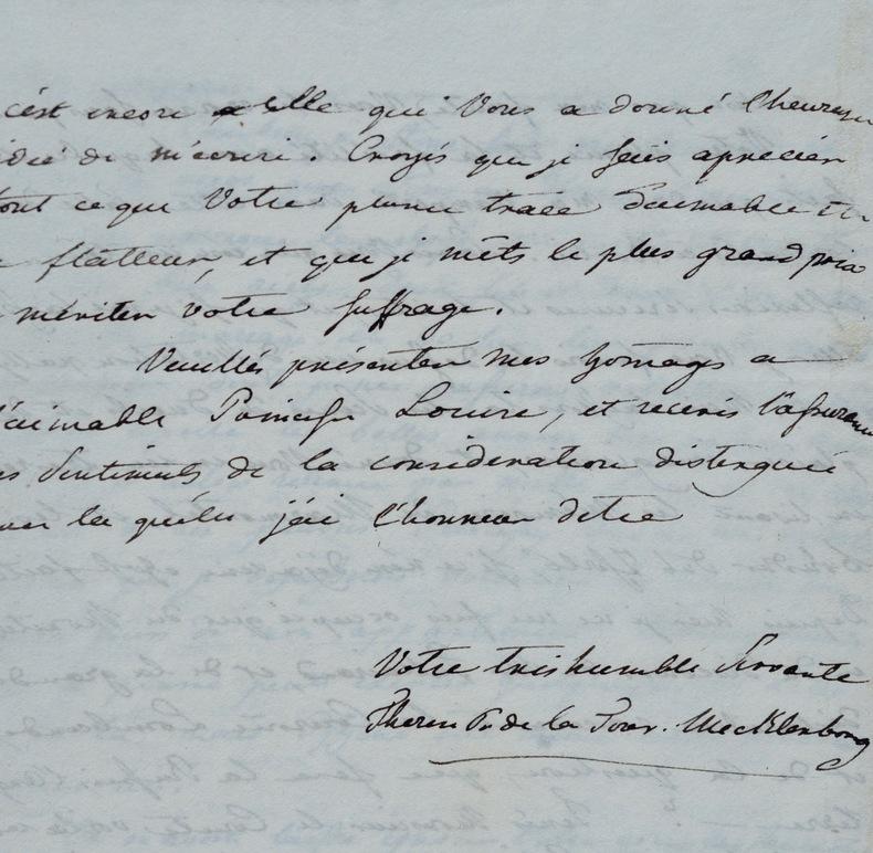 Thérèse de Mecklembourg se désole de sa situation de princesse.. Thérèse de Mecklembourg-Strelitz (1773-1839) Princesse allemande, fille du grand-duc ...