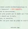 Rare texte surréaliste de Wifredo Lam, au sujet de Magritte. Wifredo Lam (1902-1982) Peintre surréaliste cubain.