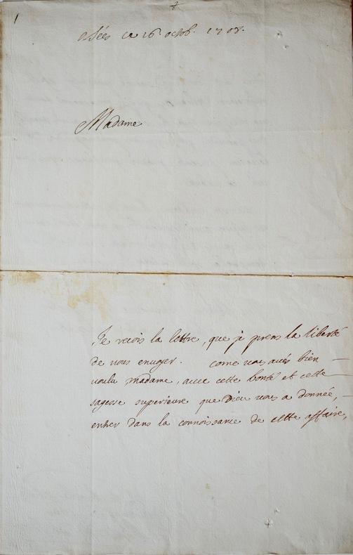 Louis d'Aquin alerte Mme de Maintenon de l'état déplorable de l'évêché de Séez. Louis Thomas d'Aquin (1667-1710) Homme d'Église français,évêque de ...
