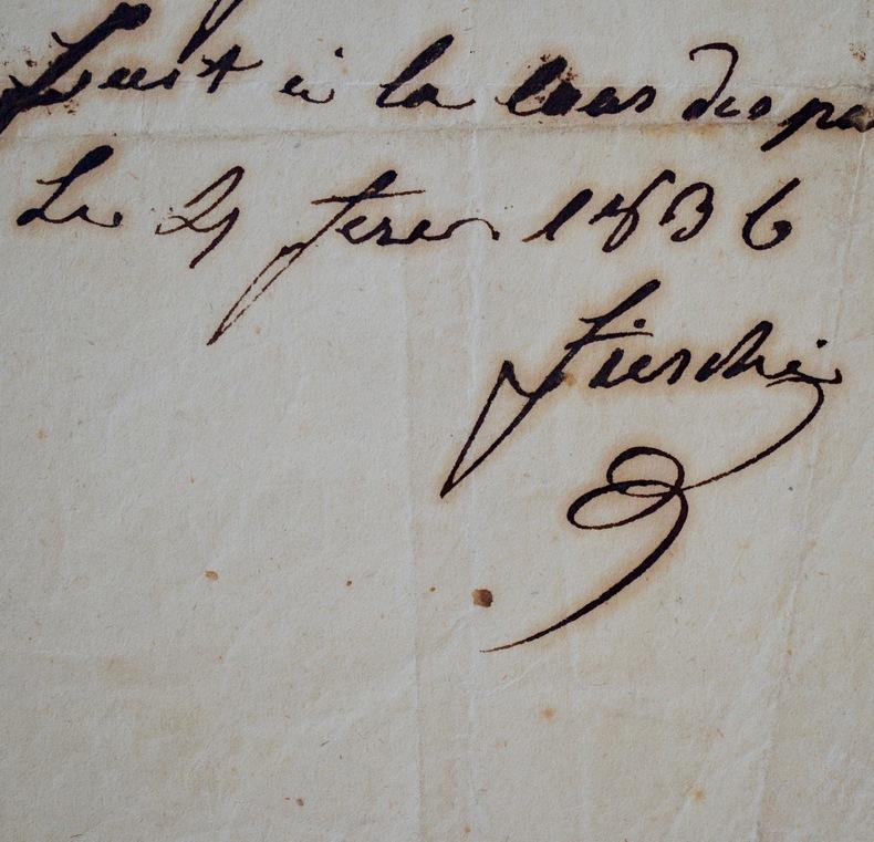 Fieschi rédige un billet pendant son procès, quelques jours avant sa mort. Giuseppe Fieschi (1790-1836) Conspirateur célèbre pour sa tentative de ...