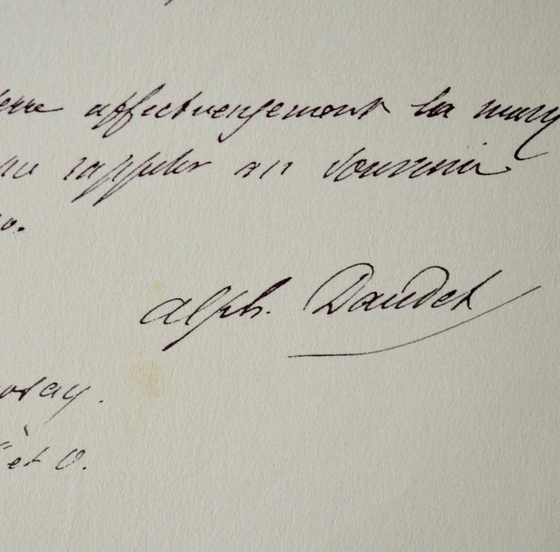 Alponse Daudet intervient pour les examens de son fils Léon Daudet. Alphonse Daudet (1840-1897) Romancier.