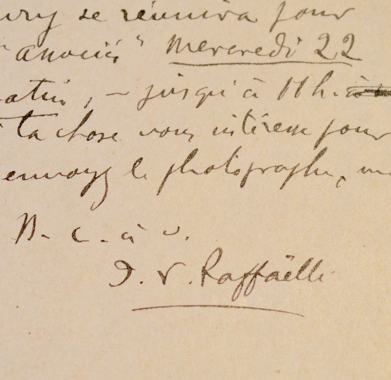 Trois cartes du peintre Raffaëlli, adressées à son ami Gustave Coquiot. Jean-François Raffaëlli (1850-1924) Peintre. Élève de Gérôme, Raffaëlli ...