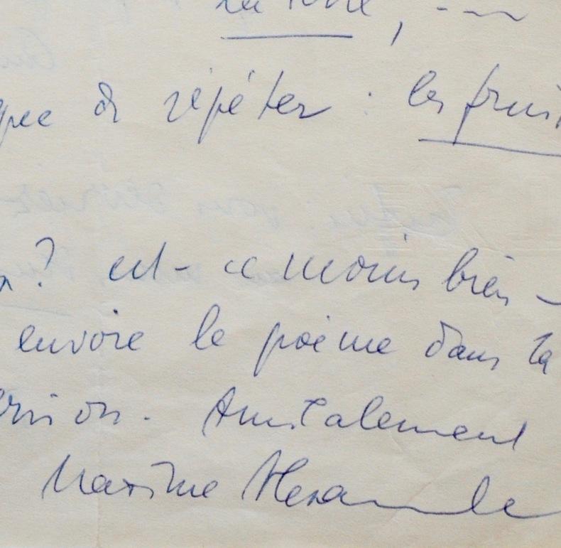 Maxime Alexandre remanie ses vers. Maxime Alexandre (1899-1976) Poète et auteur dramatique alsacien,témoin du surréalisme des premières années.