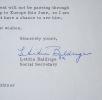 """Letitia Baldrige répond à un courrier adressé aux Kennedy. Letitia Baldrige (1926-2012) Spécialiste del'étiquette,des relations publiqueset""""Social ..."""