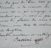 Henri de Cassini recommande le protégé de Mme de Fallois, à un confrère. Alexandre Henri Gabriel Cassini (1781-1832) Botaniste et magistrat, membre de ...