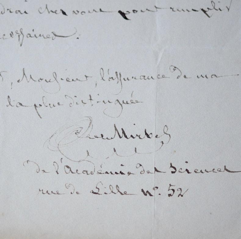 Charles François Brisseau de Mirbel intègre la Société des gens de Lettres. Charles François Brisseau de Mirbel (1776-1854) Directeur des Jardins et ...