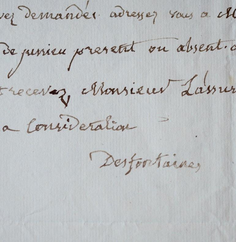 René Louiche Desfontaines envoie des billets pour le Cabinet du roi. René Louiche Desfontaines (1750-1833) Botaniste. Chargé de la botanique du Museum ...