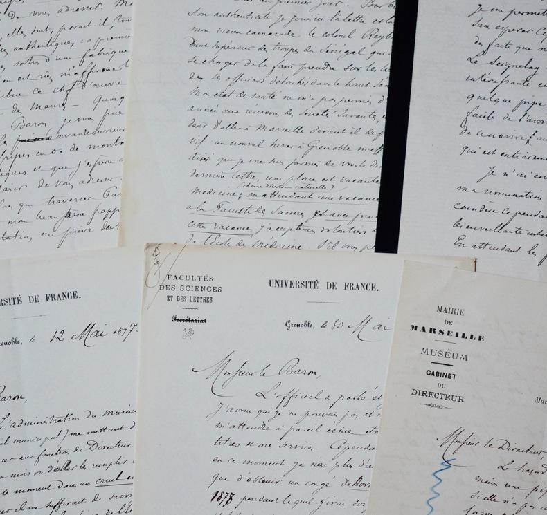 Le Dr Heckel complète la collection de pipes du baron de Watteville. Édouard Marie Heckel (1843-1916) Botaniste etmédecin français.
