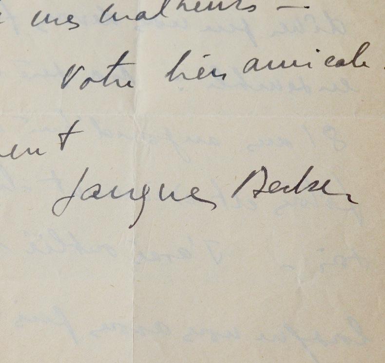 Jacques Becker à René Simon. Jacques Becker (1906-1960) Réalisateur français.Il est le père du réalisateur Jean Becker.
