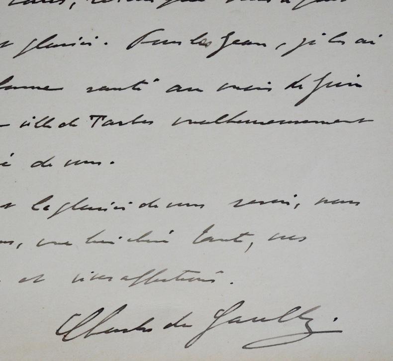 Carte autographe signée de Charles de Gaulle de 1927. Charles de Gaulle (1890-1970) Homme d'État et Président français.