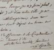 Lettre de Legendre à son libraire Würtz. Adrien Marie Legendre (1752-1833) Mathématicien, il énonce, en 1798, la loi de distribution des nombres ...