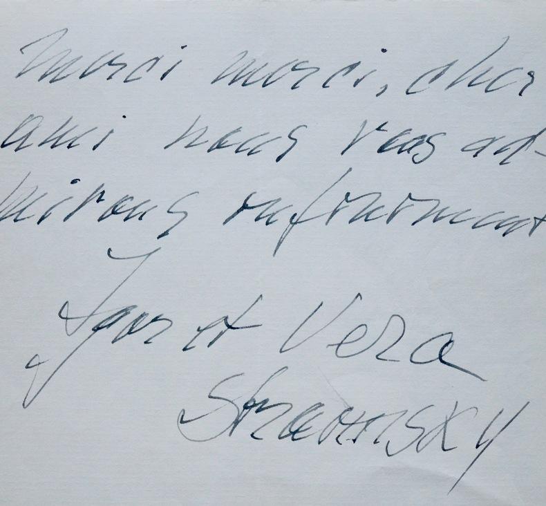 Les Stravinsky félicitent Pierre Monteux pour son Fidelio. Igor Stravinsky (1882-1971) Compositeur russe, nationalisé français puis américain.