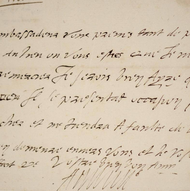 Rare lettre du roi de Navarre Antoine de Bourbon. Antoine de Bourbon (1518-1562) Prince du sang de la maison capétienne de Bourbon, membre de la ...