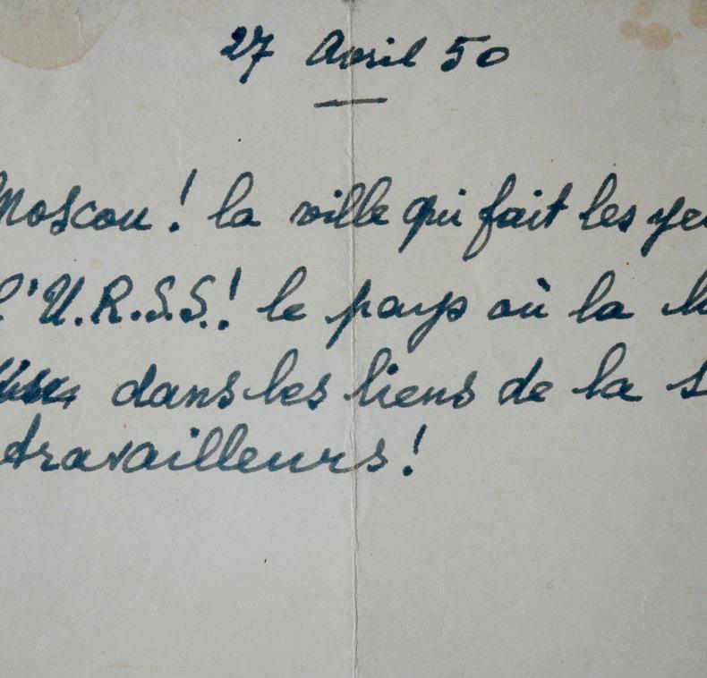 Éluard, chantre de l'U.R.S.S. de Staline. Paul Éluard (1895-1952) Poète surréaliste.