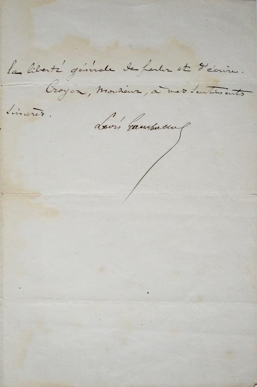 Gambetta veut se consacrer à ses fonctions et soutenir la République. Léon Gambetta (1838-1882) Homme politique français.