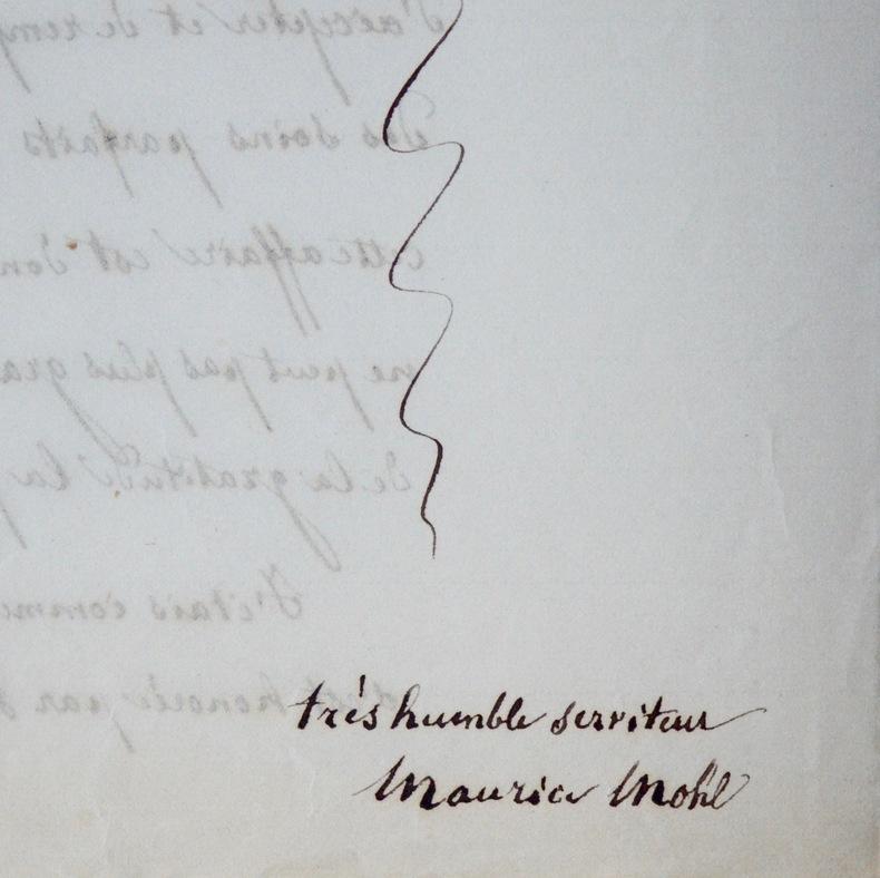 Succession de Jules Mohl, par son frère Maurice Mohl.