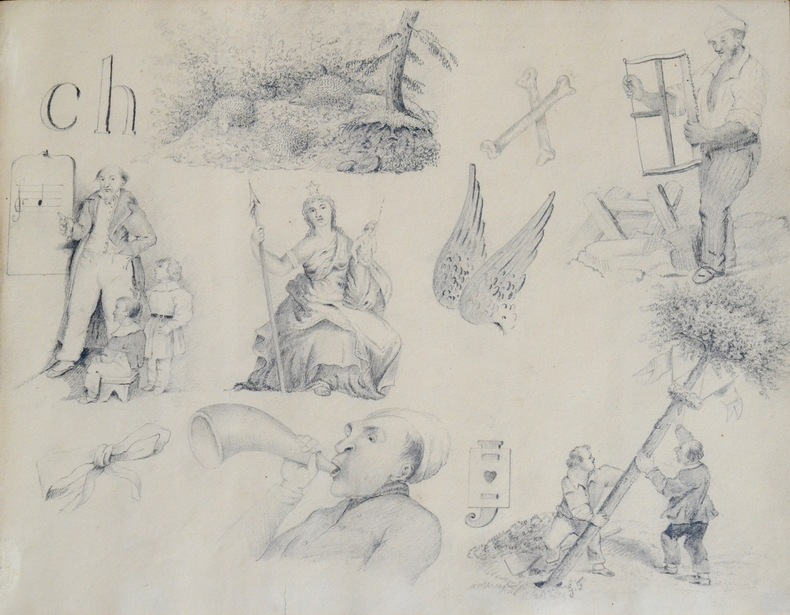 Album de rébus et de dessins du XIXeme siècle.