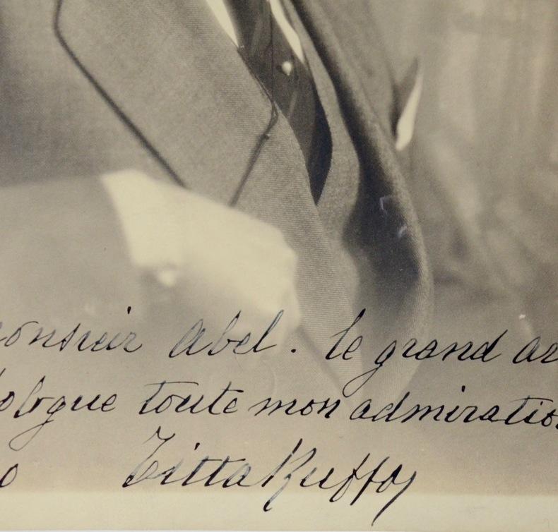Beau portrait de Titta Ruffo. Titta Ruffo (1877-1953) Baryton italien, célèbre pour la puissance de sa voix et son opposition au fascisme.