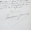Edmond de Goncourt programme un rendez-vous avec Mme Charpentier. Edmond Goncourt (de) (1822-1896) Romancier.