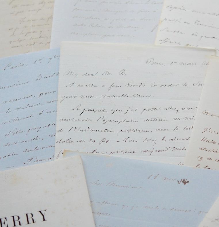 Correspondance de Guerry, père des sciences sociales, avec son éditeur. André-Michel Guerry (1802-1866) Statisticien et juriste français, un ...