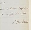 Max Müller héberge le baron de Watteville. Max Müller (1823-1900) Philologue et orientaliste allemand, l'un des fondateurs des études indiennes et de ...
