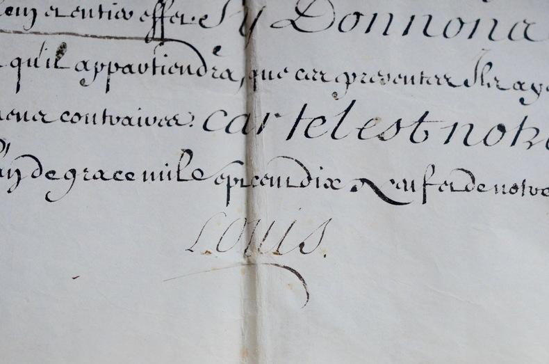 Changement de nom et darmes de Malo Joseph du Breil de Pontbriand.