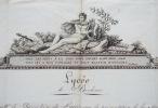 Rare diplôme du Lycée de Bordeaux de 1797 avec belle gravure en encadrement.