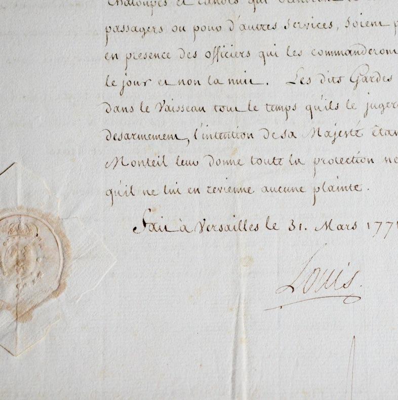 Lettre de mission maritime vers l'Isle de France.