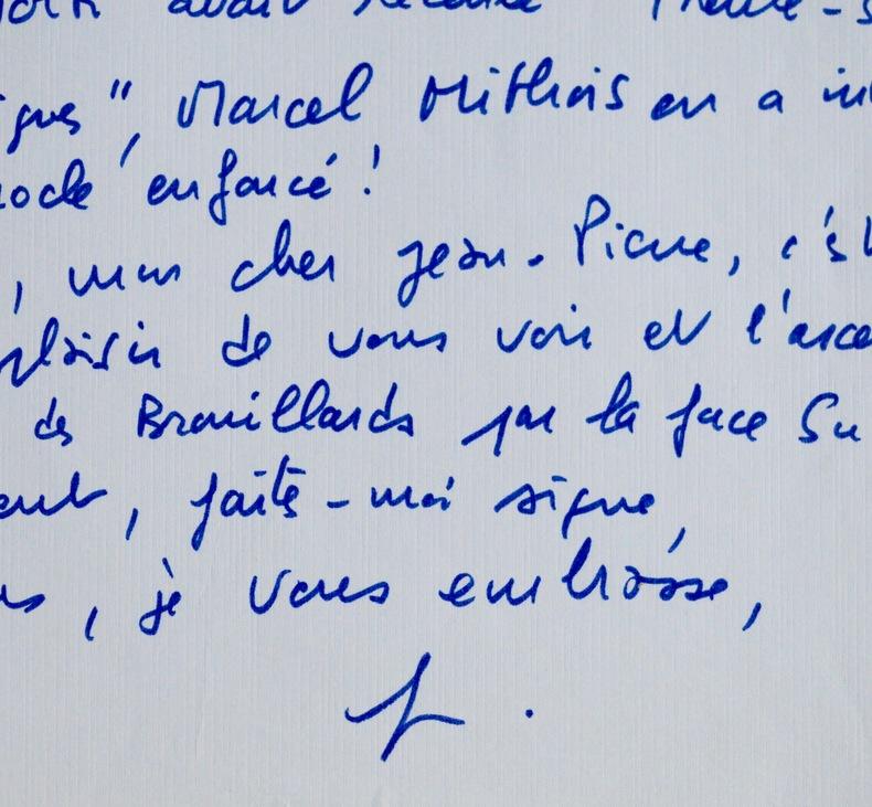 Belle et amusante lettre de Truffaut à Aumont. François Truffaut (1932-1984) Cinéaste français, l'un des fondateurs de la Nouvelle vague.