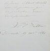 Ensemble de 2 lettres de l'architecte Victor Baltard. Victor Baltard (1805-1874) Architecte.