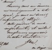 Cinq lettres de l'architecte François-Christian Gau. François-Christian Gau (1790-1853) Architecte allemand,naturalisé français en 1815.