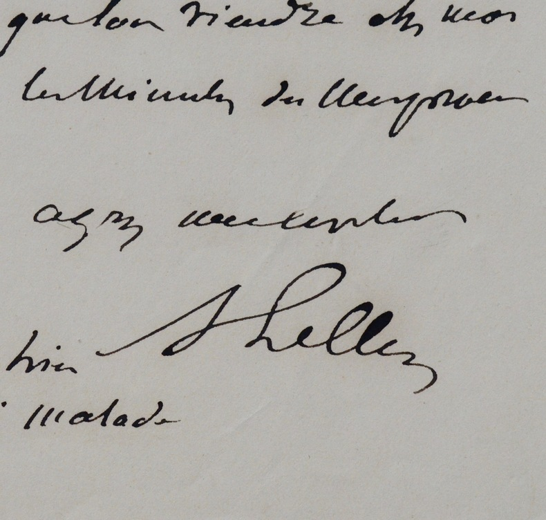 Deux lettres de l'architecte Achille Leclère. Achille Leclère (1785-1853) Architecte français.