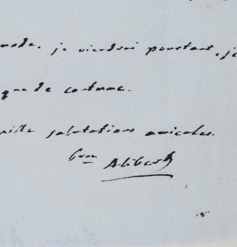 Lettres du baron Alibert, célèbre dermatologue. Jean-Louis Alibert (baron) (1768-1837) Médecin français, créateur de la dermatologe moderne, il a ...