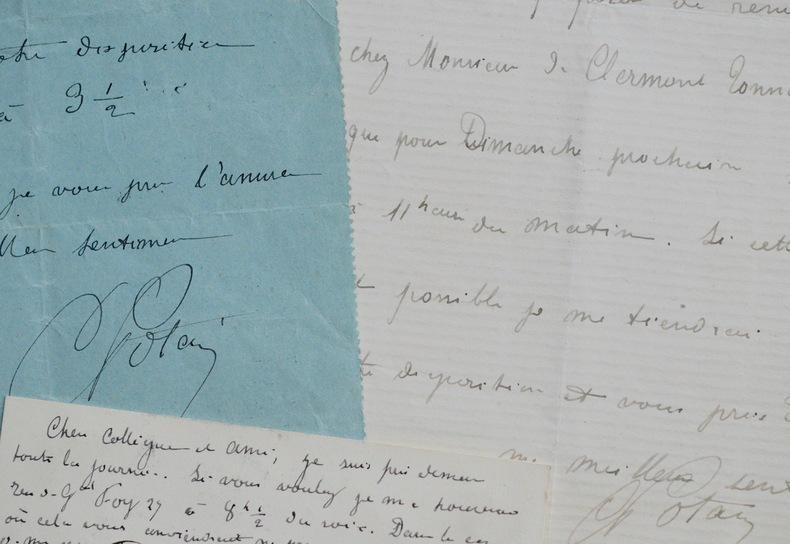 Lettres du cardiologue Carl Pierre Édouard Potain. Carl Pierre Édouard Potain (1825-1901) Cardiologuefrançais, connu pour ses travaux sur la mesure de ...