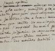 Précieux brouillon d'une lettre de Rousseau à Voltaire.. Jean-Jacques Rousseau (1712-1778) Illustre philosophe.