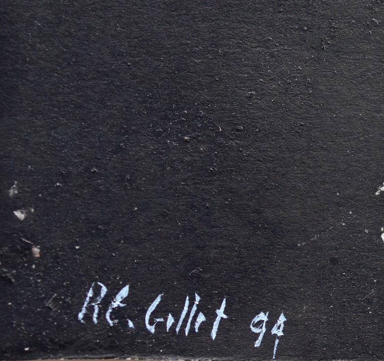 Jolie composition de R. E. Gillet. Roger-Edgar Gillet (1924-2004) Peintre et graveurfrançais.