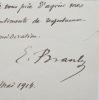 Édouard Branly, ses cours et ses expériences. Edouard Branly (1844-1940) Inventeur du radio-conducteur qui permit la mise au point de la T.S.F. Membre ...