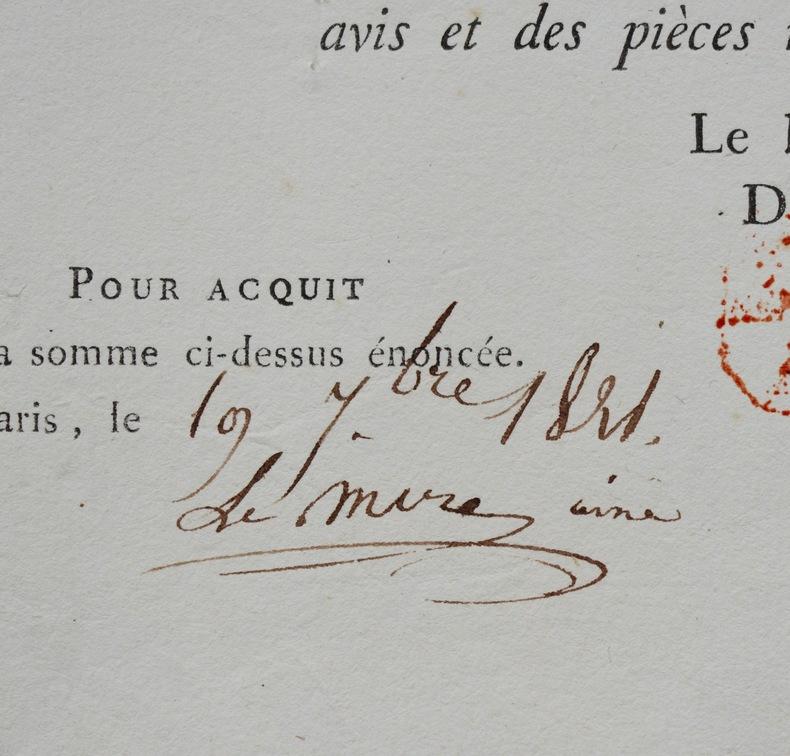 L'état achète un tableau au peintre Charles Le Mire aîné. Charles Le Mire (ou Lemire) aîné (17--18-) Peintre de genre et dessinateur. Il fut ...