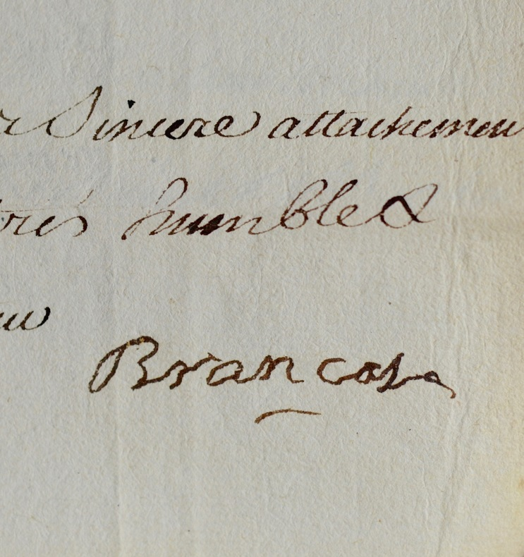 Intéressante lettre du maréchal Louis de Brancas. Louis de Brancas (1672-1750) Maréchal de France (1740) ; il fut aussi ambassadeur de France en ...