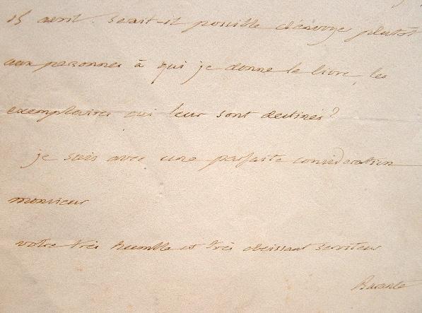 Prosper de Barante reconnaissant.. Prosper Brugière Barante (baron de) (1782-1866) Homme politique et historien. Académicien (1828).