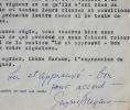 Contrat signé et apostillé par Ingrid Bergman. Ingrid Bergman (1915-1982) Actrice suédoise, lauréate d'un Oscar.