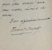 Trois lettres de Vincent Muselli. Vincent Muselli (1879-1956) Poète.