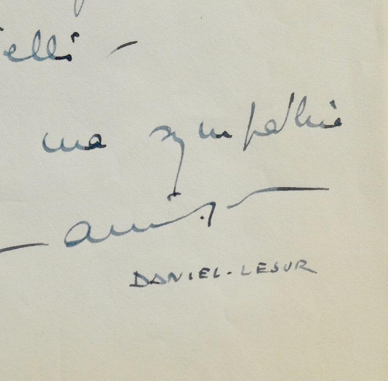 Correspondance du compositeur Daniel-Lesur à Henri Martelli. Daniel-Jean-Yves Lesur (dit) Daniel-Lesur (1908-2002) Compositeur et organiste, membre de ...