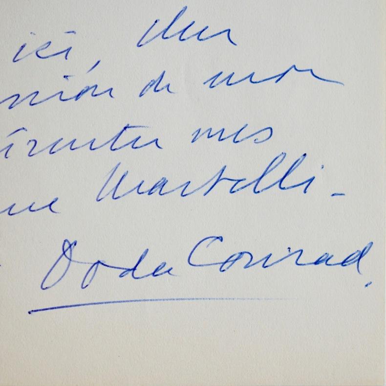 Lettre du chanteur d'opéra Doda Conrad. Doda Conrad (1905-1997) Chanteur d'opéra (basse) polonais naturalisé américain.