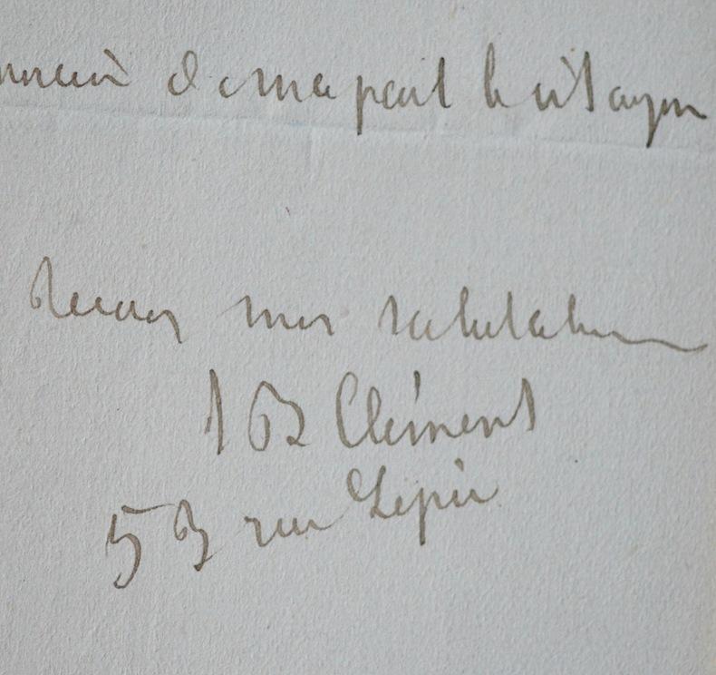 Lettre de Jean-Baptiste Clément. Jean-Baptiste Clément (1836-1903) Chansonnier montmartrois etcommunard français. Auteur des chansonsLe Temps des ...
