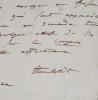 Lettre d'Humboldt à Freycinet au sujet d'Oltmanns. Alexander von Humboldt (1769-1859) Naturaliste et voyageur allemand.
