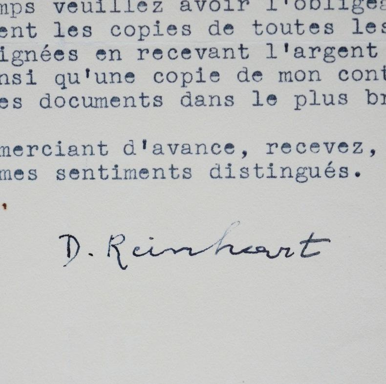 Django Reinhardt et les impôts. Django Reinhardt (1910-1953) Guitaristefrançais, précurseur dujazz manouche.