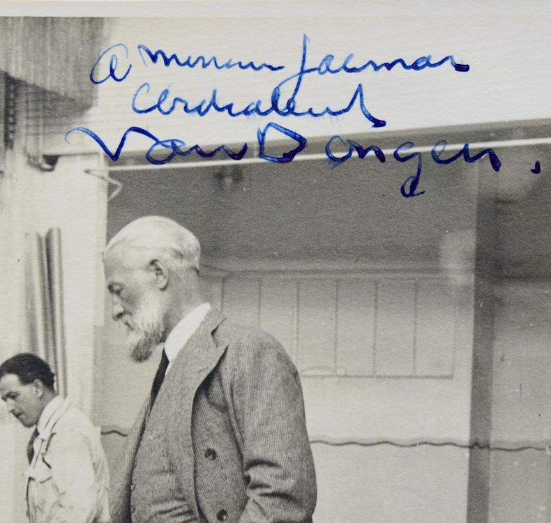 Beau portrait photographique dédicacé de Van Dongen. Kees Van Dongen (1877-1968) Peintre portraitiste, l'un des grands représentants du fauvisme.