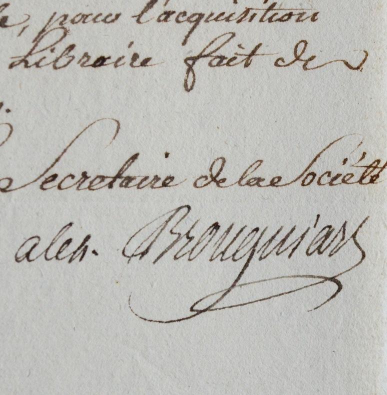 Brongniart, secrétaire de la Société d'Histoire naturelle. Alexandre Brongniart (1771-1847) Minéralogiste et géologue. Directeur de la manufacture de ...
